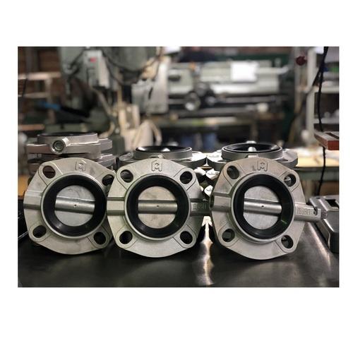 Затвор дисковый поворотный  Ду 50 — Ду 200 (резиновое уплотнение)